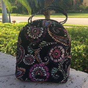 Vera Bradley Black Bandana Swirl Lunchbox